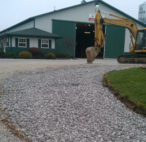 Driveway drainage and installation by Art & Sons Excavating